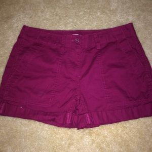 Purple Cargo Shorts
